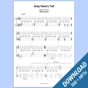 Grey Mare's Tail TAB (Duet Version with Playalong Audios)