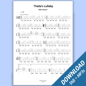 Thalia's Lullaby (Solo Tab & Full Track Audio)